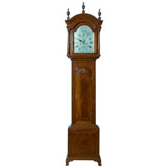 """Chippendale Tall Case Clock with """"Block / Shell"""" and Silvered Dial, circa 1780"""