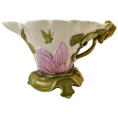 English Royal Worcester Antique Porcelain Bowl or Sauce Boat, circa 1880