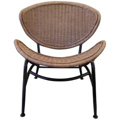 Wicker Chair in the Style of Salterini