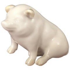 Porcelain Miniature Pig by Belleek
