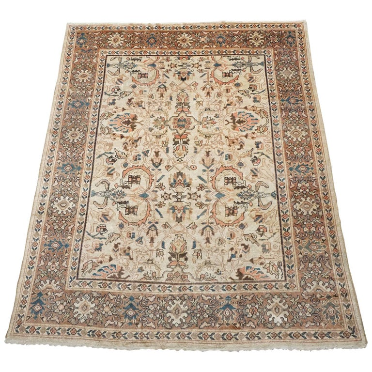Antique Cotton Agra Rug With Abrash Circa 1900 For Sale: Antique Persian Sultanabad Rug, Circa 1990 For Sale At 1stdibs
