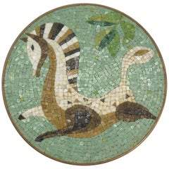 Evelyn Ackerman Era Mosaic Tile, Round Wall Hanging