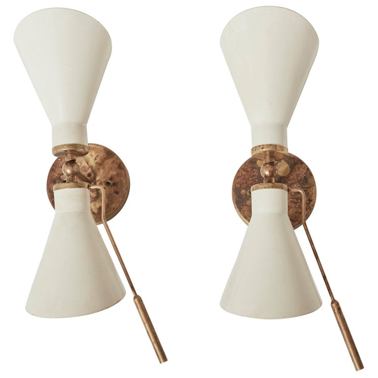 Gino Sarfatti attributed Wall Sconces/Lights, Italy