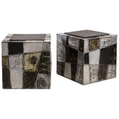 Paul Evans, Pair of Argente Cube Side Tables, USA, circa 1970