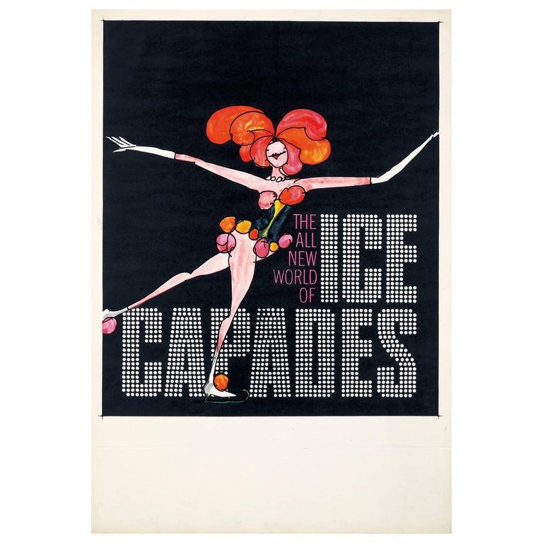 Tomi Ungerer, Vintage Ice Capades Poster, 1969