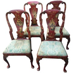 Four Chippendale Chinese Chairs
