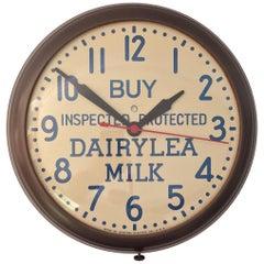 1950s Dairylea Milk Advertising GE Wall Clock