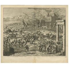 Antique Bible Print Fourth Plague of Egypt by J. Luyken, 1743