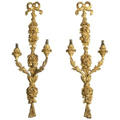 Pair of George III Giltwood Wall-Lights or Sconces