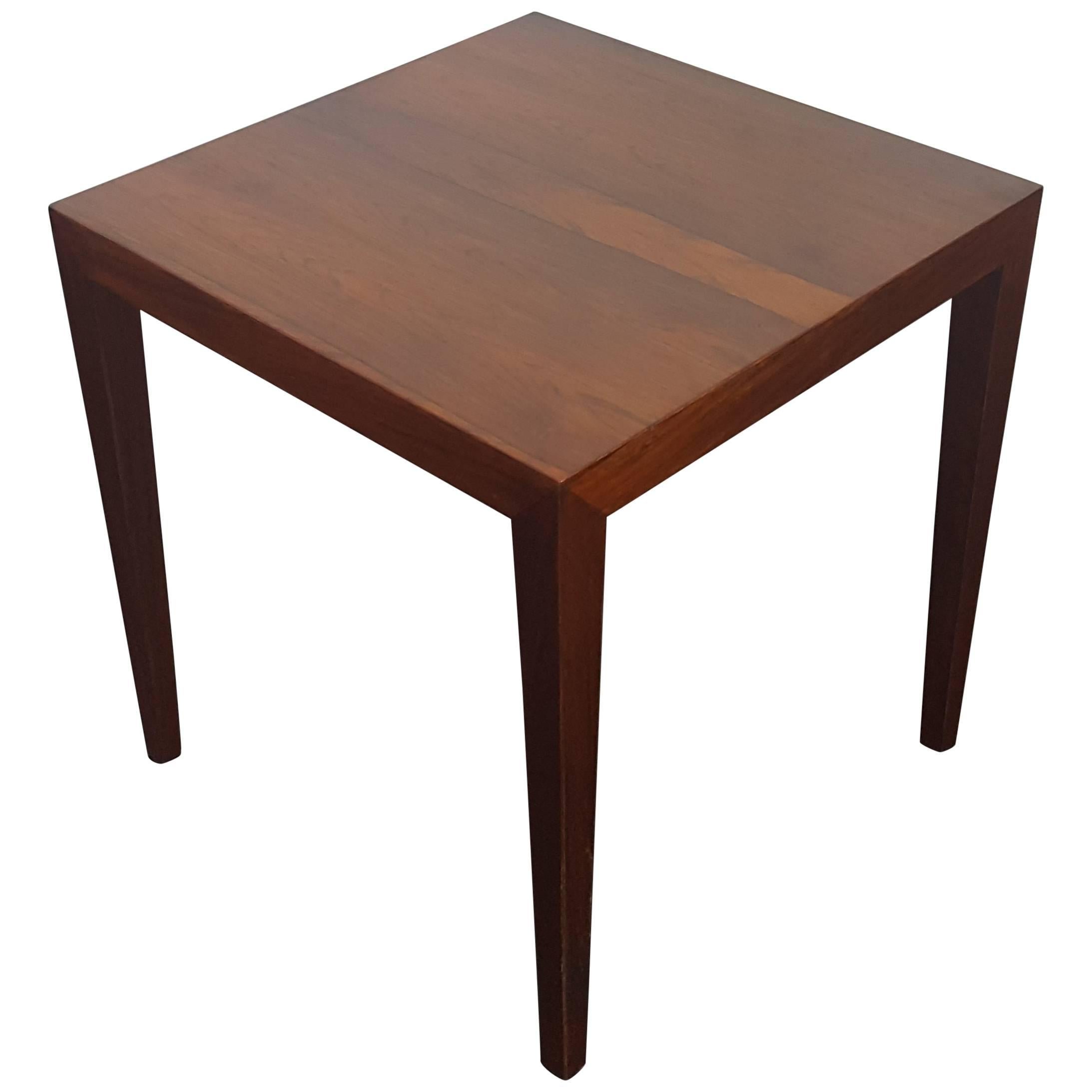 Danish Severin Hansen Rosewood Coffee Table for Haslev, 1960s