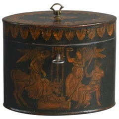 Late 18th Century George III Toleware Tea Caddy