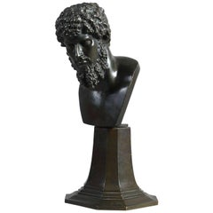 Late 18th Century Grand Tour Bronze Bust of Emperor Lucius