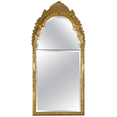 Early 18th Century Baroque Giltwood Mirror