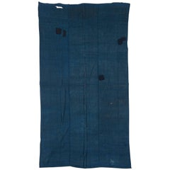 Early 1900s Hand-Loomed Indigo Japanese Kaya, Mosquito Net
