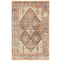 Large Tribal Geometric Antique Bakhtiari Persian Carpet
