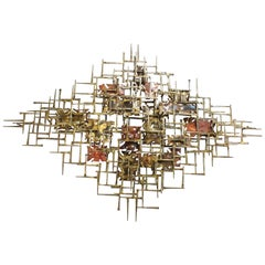 Silas Seandel Nail Wall Sculpture