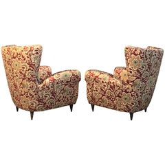 Glamorous Pair of Paolo Buffa Inspired Armchairs