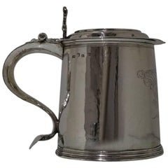Sterling Silver Charles II Large Tankard and Cover 1679 Maker EG Jacksons Pg 129