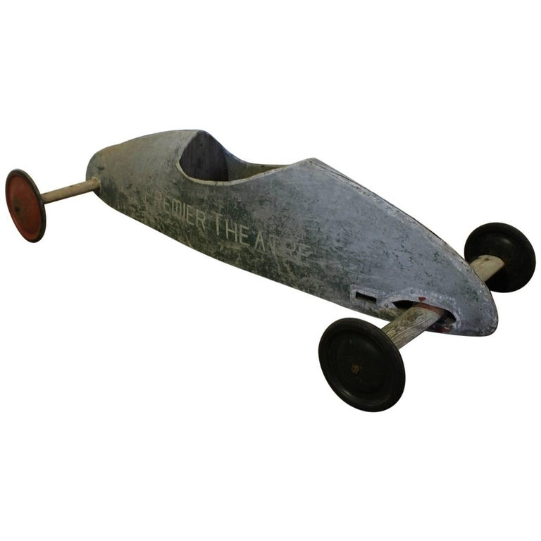 Early 20th Century Soap Box Derby Tin Car