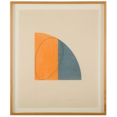 Curved Plane or Figure II by Robert Mangold Woodcut on Paper