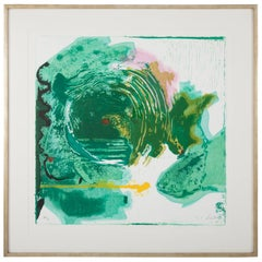 """Radius"" a Woodcut Print by Helen Frankenthaler, American, 1929-2011"