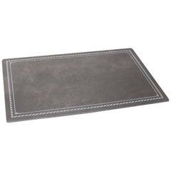Custom Grey Leather Desk Pad Blotter Hungary, circa 2015