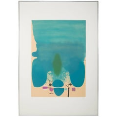 "Lithograph ""Anxious Moments"" by Victor Pasmore"