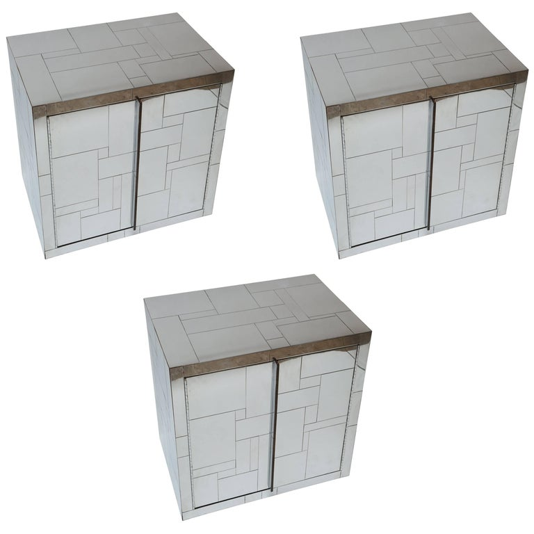 Paul Evans Cityscape Wall Hung Cabinets Set of Three