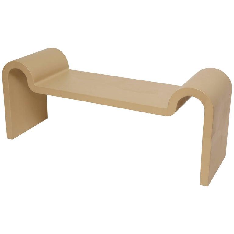 Karl Springer Leather Sculpture Bench
