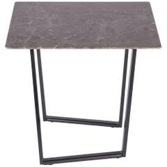 Salvatori Small Square Dritto Side Table in Gris Du Marais by Piero Lissoni