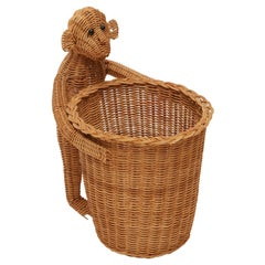 Mario Lopez Torres Monkey Waste Basket or Trash Can