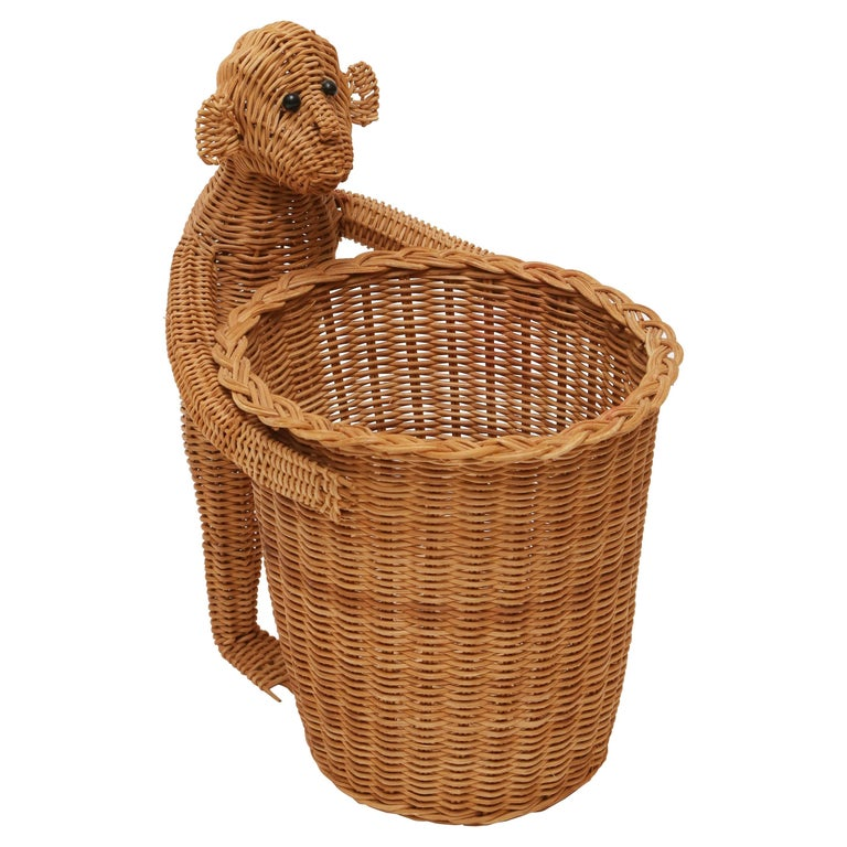Mario Lopez Torres Monkey Waste Basket Or Trash Can For