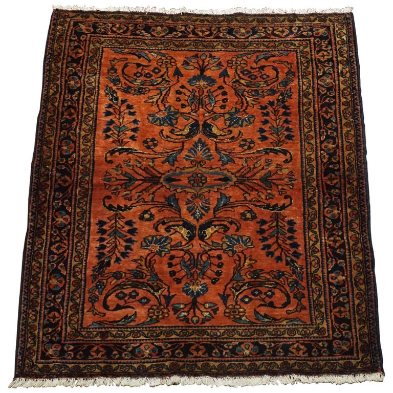 Royal Border Oriental Rug By Rug Culture: Antique Persian Lilihan Rug, Circa 1900 For Sale At 1stdibs
