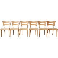 "Heywood Wakefield ""Dogbone"" Dining Chairs, Set of Six"