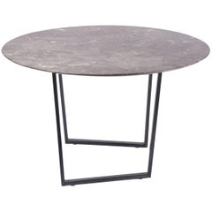 Salvatori Small Round Dritto Side Table in Gris du Marais by Piero Lissoni