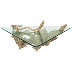 Unique Driftwood Glass Coffee Table