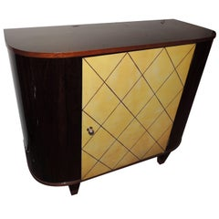 Art Deco Macassar and Pergamino Bar Buffet Cabinet
