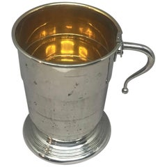 Collapsible German Silver and Vermeil Cup