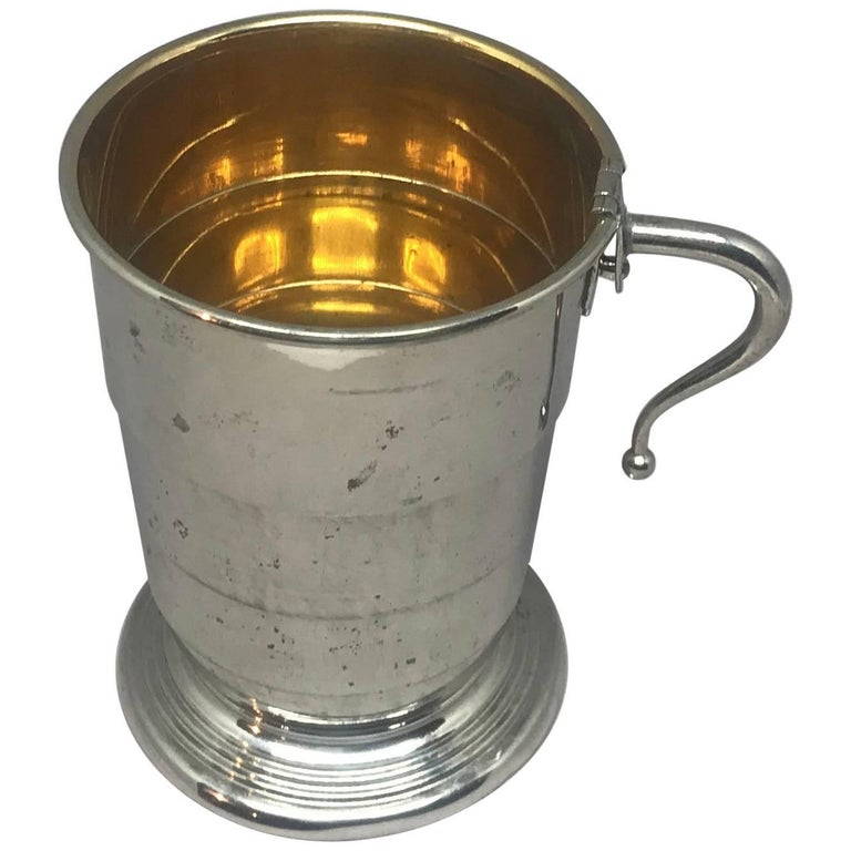 Collapsible German Silver And Vermeil Cup At 1stdibs