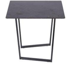 Salvatori Small Square Dritto Side Table in Pietra d'Avola by Piero Lissoni