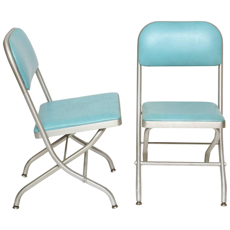 Pair of Warren McArthur Folding Chairs