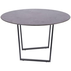 Salvatori Small Round Dritto Side Table in Pietra d'Avola Stone by Piero Lissoni