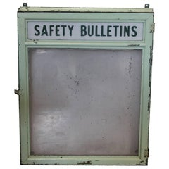 1930s Safety Bulletins Message Shadow Box
