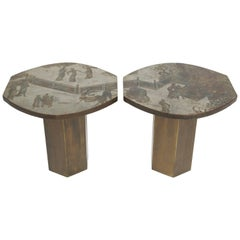Rare Philip and Kelvin Laverne Tao Side Tables