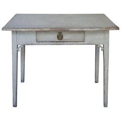 Swedish Work Table with Apron Drawer