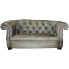 Chesterfield Tufted Leather Sofa by Hancock & Moore