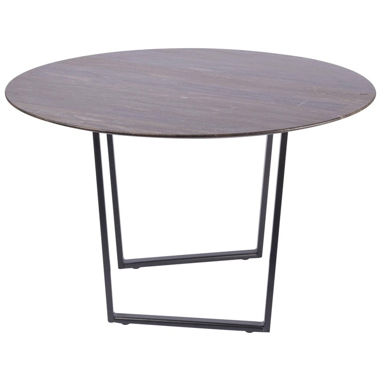 Salvatori Round Dritto Side Table in Lithoverde® Pietra d'Avola by Piero Lissoni