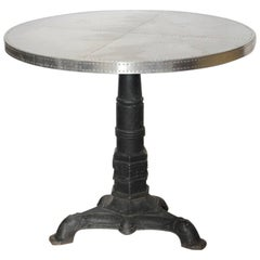 Antique Bistro Cast Iron Table