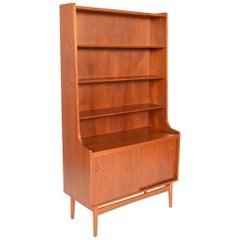Tall Danish Modern Midcentury Bookcase in Teak by Johannes Sorth