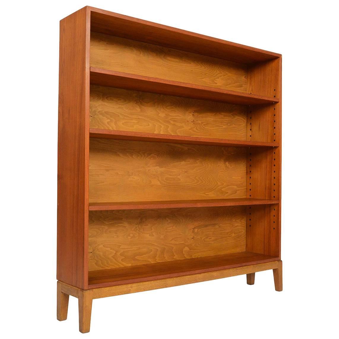 narrow danish modern midcentury bookcase in teak 2